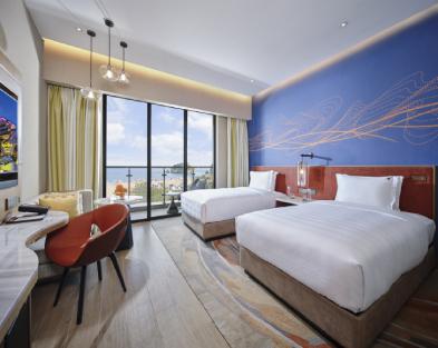 豪华海景双床房